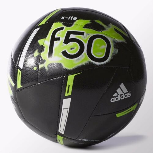 Adidas Performance F50 X-ite Soccer Ball Size 5 Core Black Neon Green M36910
