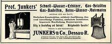 Junkers & Co. Dessau HEISS-WASSER-AUTOMATEN Historische Reklame von 1908