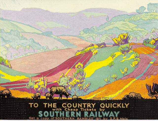 "SOUTHERN RAILWAY ""Country Rambles"" Vintage Art Deco Railway Poster A1A2A3A4Sizes"
