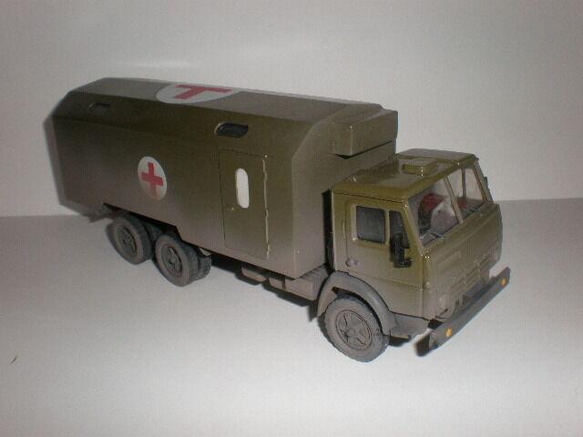 Camión De Ambulancia Militar Ejército ruso Kamaz - 4310 Modelos Hecho a Manoa