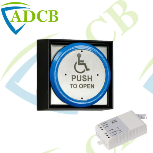 Wireless Transmitter Round Disabled Push to Open Button Door Release Access