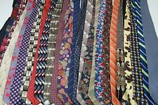 Silk NECKTIES 25 TIE Lot striped geometric floral Neck ties DESIGNER BRANDS