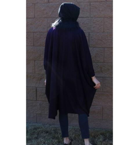 Modest De 3113 Avec Turc Fourrure Violet Puane Poncho Poil Islamique Manteau gwqF6aE