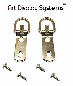 """SAMPLES 200 TRIANGLE D-RING PICTURE FRAME HANGERS 1 1//4/"""" L 200 #6 3//8/"""" SCREWS"""