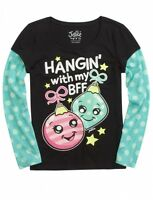 NWT Justice Girls Hanging With My BFF 2Fer Christmas Tee Top U Pick Size NEW