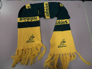SS2-TWO-AUSTRALIA-WALLABIES-RUGBY-UNION-SUPPORTER-039-S-SCARFS