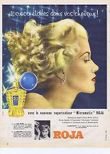 """PUBLICITE ADVERTISING 064 1958 ROJA le nouveau vaporisateur """"Micromatic"""""""