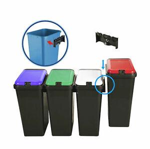Dettagli su Top Touch rettangolare 45L riciclare BIDONE SPAZZATURA  PATTUMIERA RIFIUTI DI CUCINA- mostra il titolo originale