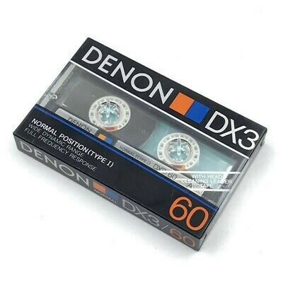DENON DX3//60 AUDIO CASSETTE AUDIOTAPE MADE IN JAPAN