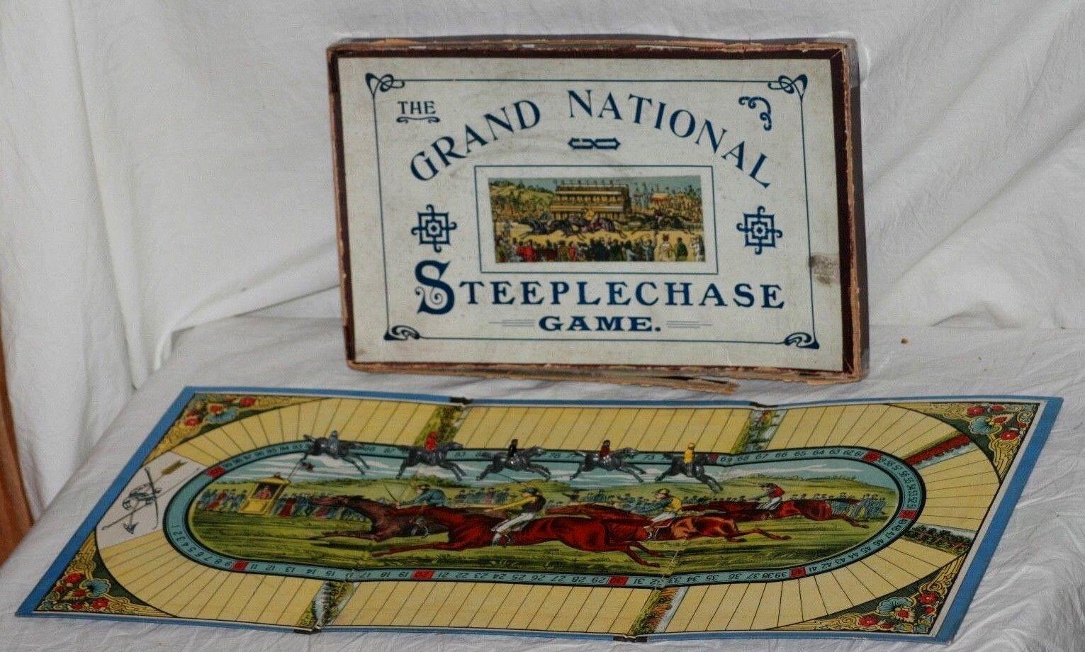 Selten circa 1880's-90 ist  das jagdrennen grand national  - spiel