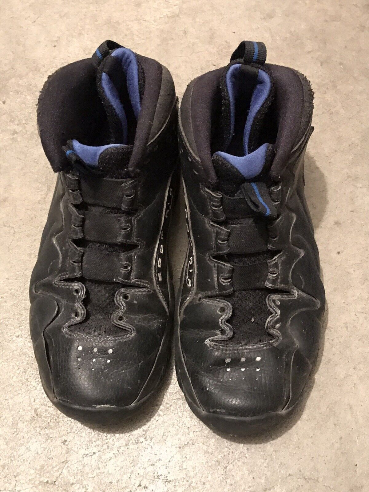 pre- owned Nike Zoom Men's size 8 and Adidas Black  Basketball Shoes on eBay thumbnail