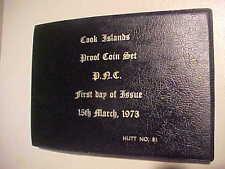 1973 HUTT COMMEMORATIVE COOK ISLAND PROOF SET UNCIRCULATED NO. 81 7 COINS