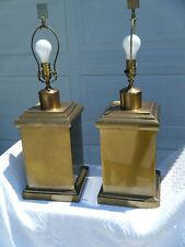 Vintage MCM Pair Of Wildwood Lampholder Brass Table Lamps