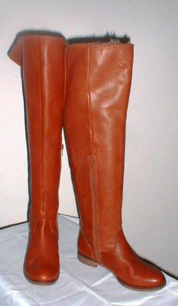 SOFT LEATHER LUCKY BRAND BRAND BRAND KNEE HIGH BOOTS W FAUX FUR CUFF SIZE 6 595b26
