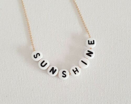 Gold Sunshine Bead Word Necklace Other Bloggers Stories Mango