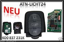 Für AUDI Schlüssel Sendeeinheit oval 3 Tasten 4D0837231K 4D0 837 231 K 433Mhz