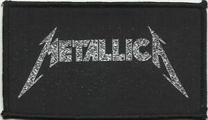 METALLICA-silver-logo-2000-WOVEN-SEW-ON-PATCH-official-no-longer-made