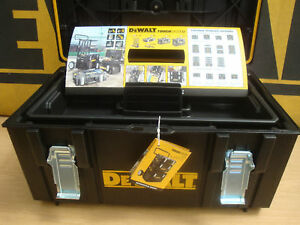 DEWALT DS300 TOUGH SYSTEM STORAGE CARRYING CASE WITH TOTE TRAY 1 70 322 692619782813