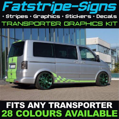 VW Transporter T6 rayures Autocollants Graphics decals Jour Van Camper VDUB SWB LWB