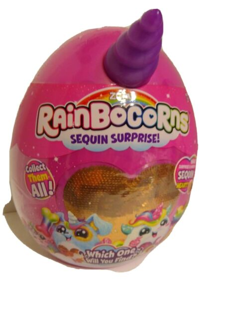 Rainbocorns Purple Unicorn Horn Pink Egg Bronze Heart  Zuru New ??Bunny??