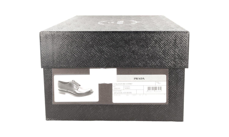 zapatos PRADA LUXUEUX 2EE191 negro NOUVEAUX 9,5 43,5 44 44 44 2e527d