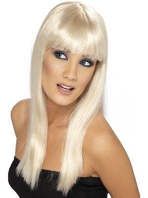 Glamourama Damen Perücke blond Langhaarperücke mit Pony Glamour Damenperücke neu
