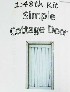 Quarter Scale Dollhouse Miniature Simple Cottage Door Kit 1:48 O Scale