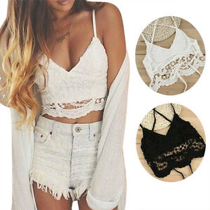 Womens-Ladies-Sleeveless-Lace-Strappy-Vest-Top-Lace-Bralette-Crop-Tops-Cami-Tank