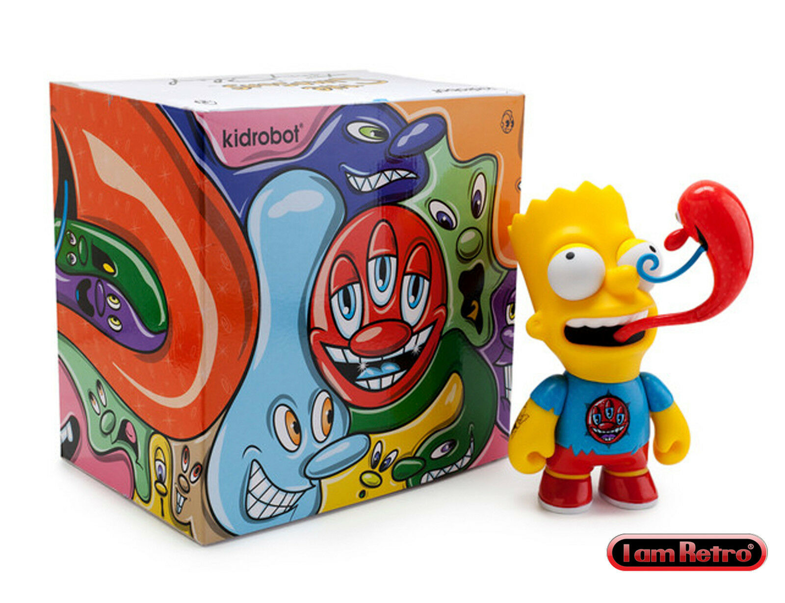 Bart Simpson 6 inch Vinyl Figure by artist Kenny Scharf x Kidrobot Brand New