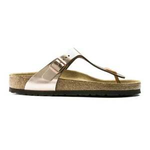 add56c5d197 Image is loading Birkenstock-Gizeh -Natural-Leather-Soft-Footbed-Sandals-Regular-
