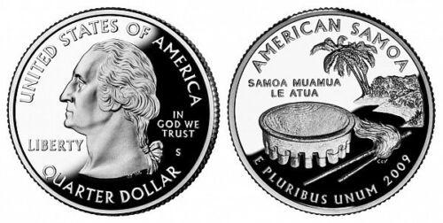 2009 S American Samoa Territorial Quarter Gem PROOF Deep Cameo Clad