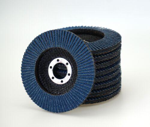 20 Fächerscheiben INOX blau Ø 125 mm Korn 120 Schleifscheiben Lamellenscheiben