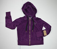 NWT True Religion Velour Cropped Zip Up Hoodie Jacket Coat Size S MSRP $149
