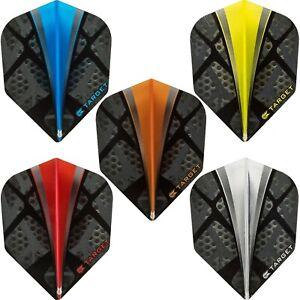 Target Vision Fade Two Tone Standard Pro 100 Dart Flights Plain 1-10 Sets Tough