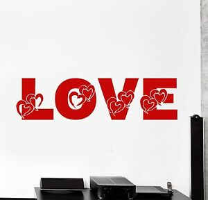 Wall Vinyl Decal Heart Love Girl Romantic Bedroom Amazing Decor Z3925
