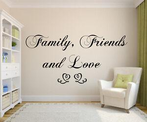 Wandtattoo Family,Friends and Love Wohnzimmer, Schlafzimmer,Spruch ...