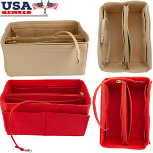 Multi-Pocket-Felt-Fiber-Cosmetic-Makeup-Storage-Bag-Handbag-Purse-Organizer-SML