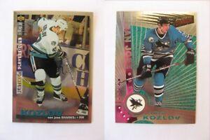1995-96 Collector's Choice #252 Kozlov Viktor PLATINUM player's club  sharks