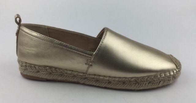 c3de64e12 Sam Edelman Khloe Womens Gold Leather Loafers Slip on Shoes Sz US ...