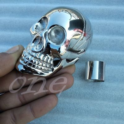Silver Brass Skull head Antique Handle for Shaft Wooden Walking Stick Solid Cane