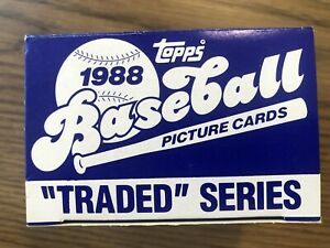 1988-Topps-Traded-Series-Set-132-Cards-w-Roberto-Alomar-Rookie-New-Unopened