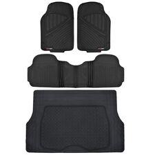 Motortrend Flextough All Weather Rubber Car Floor Mats Amp Trunk Cargo Set Black Fits 2003 Honda Pilot