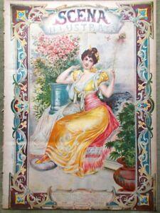 Scena-Illustrata-1-Febbraio-1895-Poesia-Giappone-Passanante-Animali-Francobolli