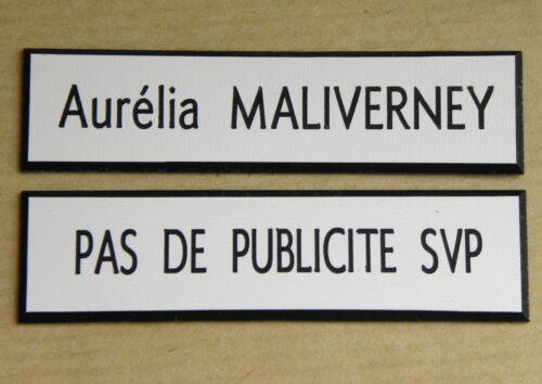 1 stop pub ft 15 x 60 mm 1 plaque de boite aux lettres personnalisée 1 ligne