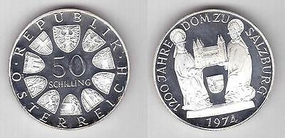1974 Austria 50 Schillings Police Centennial Brilliant Uncirculated Silver Coin