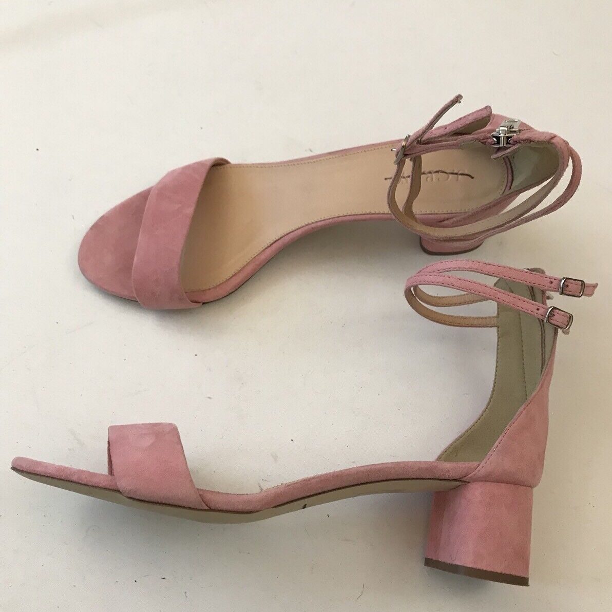 J.CREW SUEDE DOUBLE ANKLE-STRAP SANDALS SANDALS SANDALS SIZE 9 FRESH PEONY G0981 214fe8