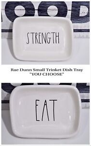 RAE-DUNN-Small-Trinket-Tray-Dish-COURAGE-Beauty-Glamour-Office-034-YOU-CHOOSE-034-2018