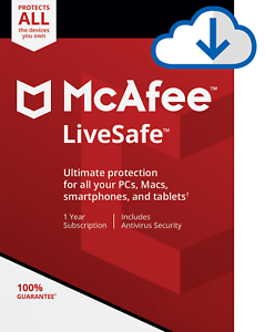 Details about McAfee LiveSafe 2019, 1 User - Unlimited Devices, 1 Year -  NEW DOWNLOAD VERSION
