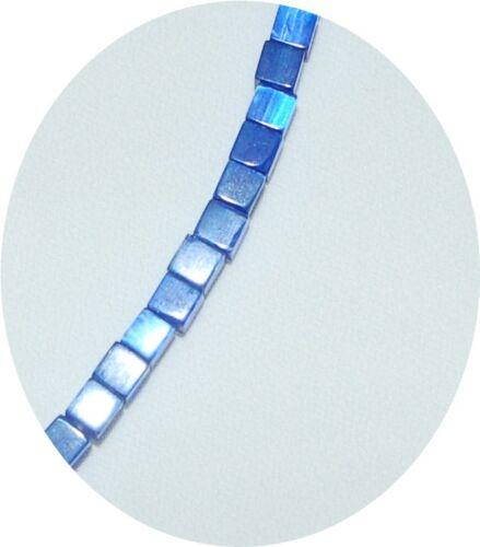 1 strang chats yeux Cateye perles de verre bastelperlen Cube Cube Beads 4 mm perle
