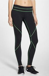 Zella-039-Live-In-Halo-039-Leggings-Dot-Print-Green-Contrast-Stitching-Size-S-Small